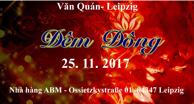 """Văn Quán mời tham dự ca vũ nhạc """"Đêm Đông"""" tại Leipzig (25.11.2017)"""