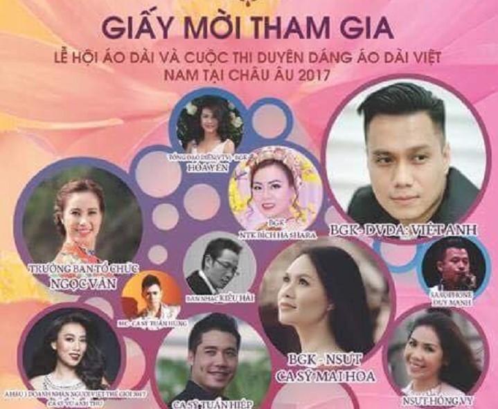 Mời tham dự lễ hội áo dài và cuộc  thi duyên dáng áo dài Việt  Nam tại Châu Âu 2017 (10.09.2017)