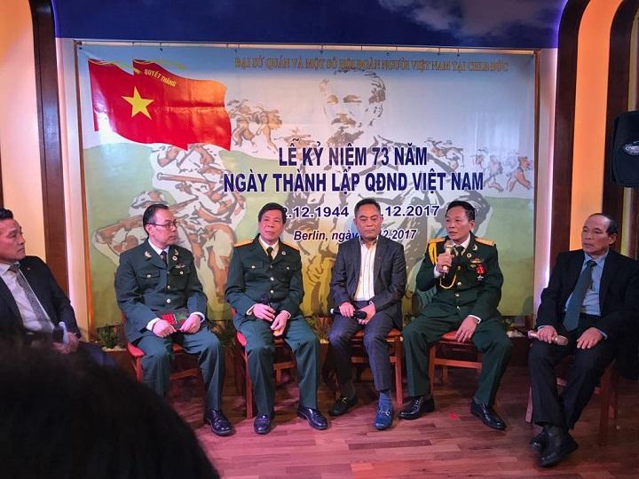 (Video) Kỷ niệm ngày thành lập Quân đội Nhân dân Việt Nam tại Berlin