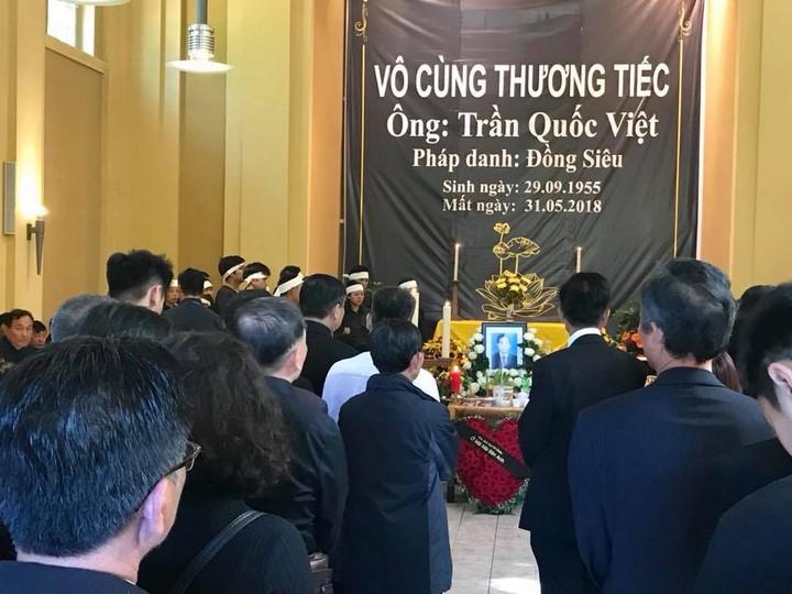 (Video) Lễ tang cựu Chủ tịch Hội ĐH Thái Bình Trần Quốc Việt