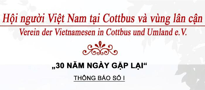 """Thông báo số 1 về Lễ kỷ niệm """"30 NĂM NGÀY GẶP LẠI"""" tại Cottbus (04.06.2017)"""