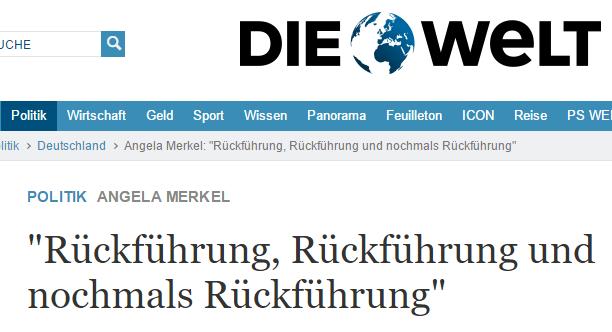 Ảnh chụp màn hình báo Đức Welt.de. Nguồn: Lương Đình Cường - NguoiViet.de