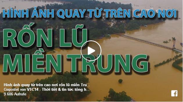 VTC14-Hương Khê chìm sâu trong nước lũ