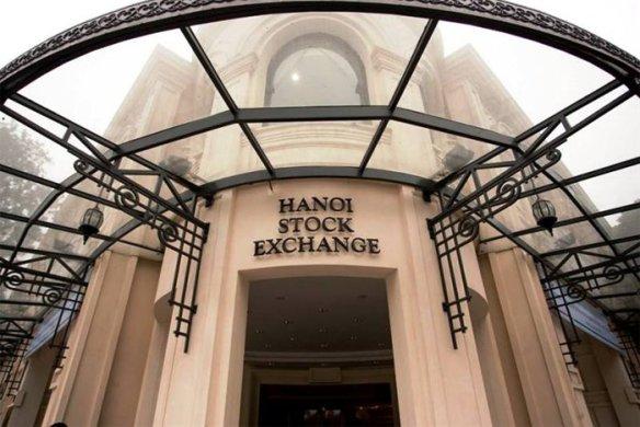 Sàn giao dịch chứng khoán Hà Nội. Nguồn: Internet