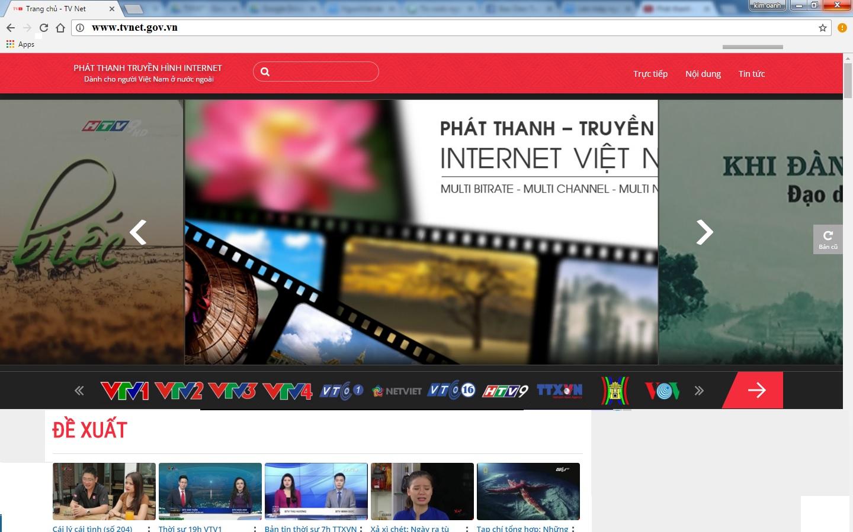 Thông báo: Website DỊCH VỤ PHÁT THANH TRUYỀN HÌNH INTERNET thay đổi giao diện