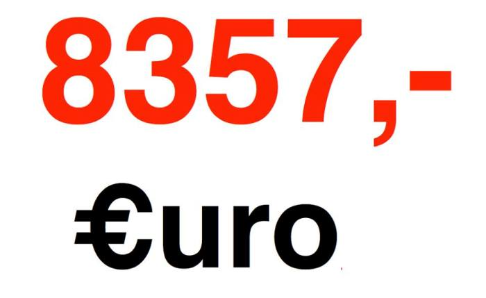 (Sau khi khi hoàn thành thông báo ghi số tiền 8.357 Euro ở trên, BTC lại thu được thêm 100 Euro nữa, nhưng chưa kịp làm cái mới).