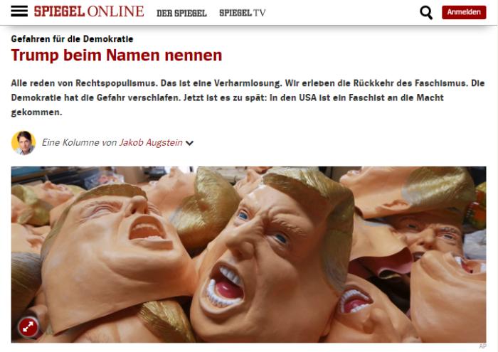 Ảnh chụp màn hình báo Đức Spiegel Online do NguoiViet.de thực hiện.