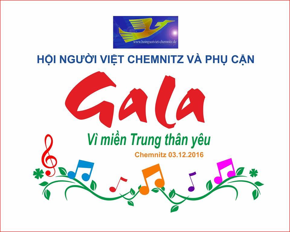 """Mời dự Gala từ thiện """"VÌ MIỀN TRUNG THÂN YÊU"""" tại Chemnitz (03.12.2106)"""