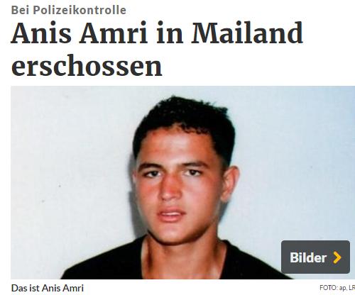 Nghi can khủng bố ở Berlin đã bị bắn chết ở Mailand. Nguồn: rp-online.de