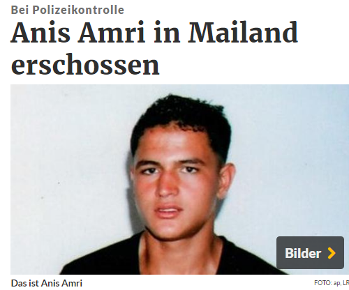 Nghi phạm Anis Amri. Nguồn: rp-online.de