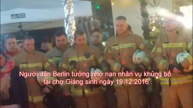 Người dân Berlin tưởng nhớ nạn nhân vụ khủng bố ngày 19.12.2016