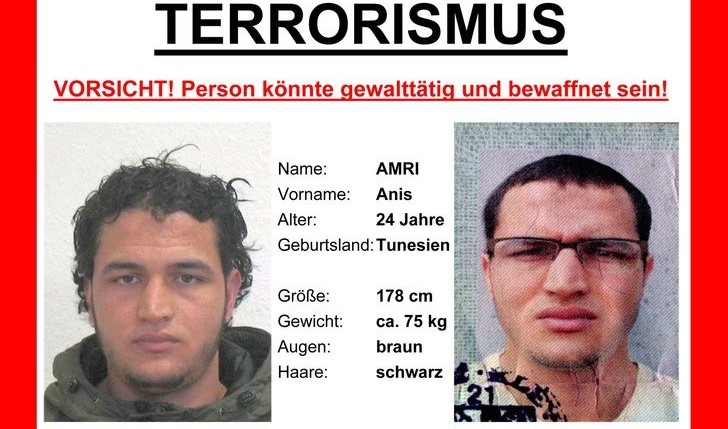Đức truy nã nghi can khủng bố chợ Giáng sinh Berlin toàn châu Âu, treo thưởng 100.000 Euro