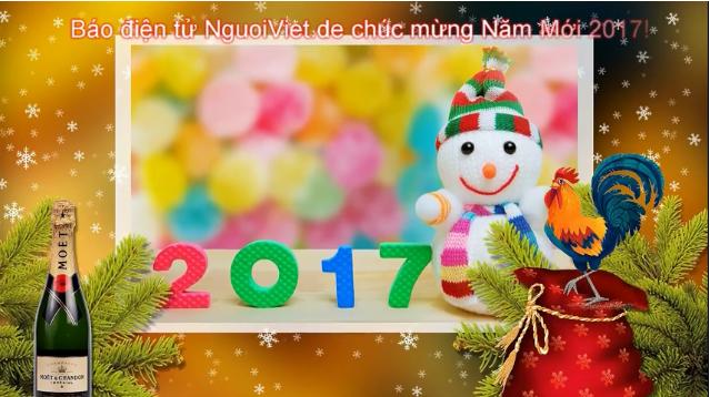 (Video) Báo điện tử NguoiViet.de chúc mừng Năm Mới 2017