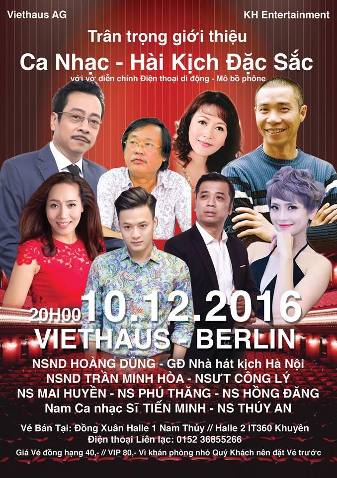 Đêm Ca nhạc - Hài kịch đặc sắc với các Nghệ sĩ đến từ Việt Nam tại Berlin (10.12.2016)