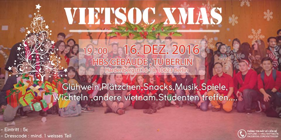 Vui đón Giáng sinh sớm cùng học sinh, sinh viên đến từ Berlin (16.12.2016)
