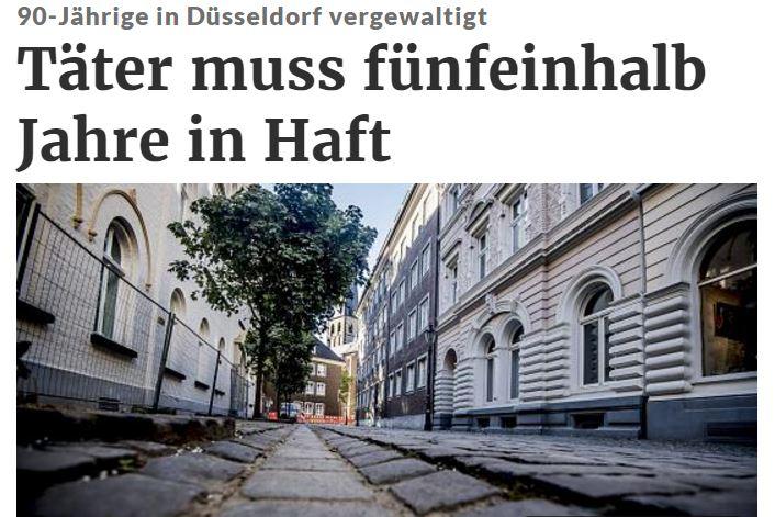 Hiện trường nơi nghi can gặp bà cụ già 90 tuổi. Ảnh chụp màn hình báo Đức rp-online.de do NguoiViet.de thực hiện.
