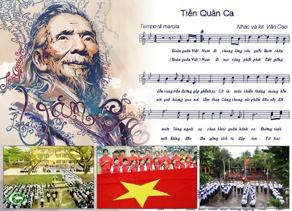 """""""Tiến quân ca"""" dược Quốc hội chọn là Quốc ca, đã sống cùng dân tộc Việt Nam 70 năm qua. Ảnh: Dân trí"""
