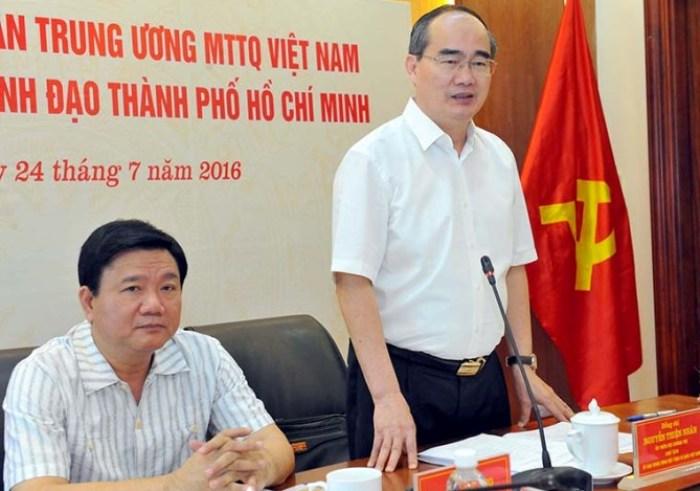 Từ trái sang: Ông Đinh La Thăng và ông Nguyễn Thiện Nhân, Ảnh: Internet