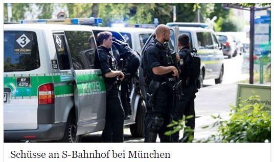 Cảnh sát Đức tại S-Bahnhof Unterföhring. Ảnh chụp màn hình báo n-tv.de