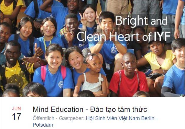"""Mời tham dự chương trình """"Đào Tạo Tâm Thức"""" tại HTW Berlin (17.06.2017)"""