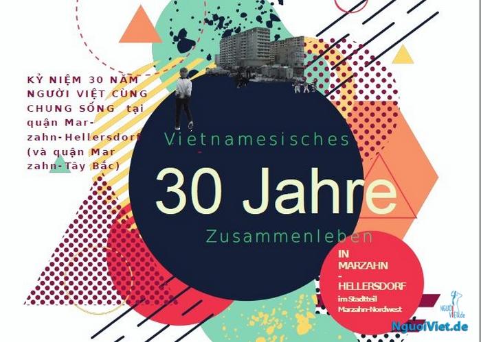 """Mời dự kỷ niệm """"30 năm người Việt cùng chung sống"""" ở Berlin (23.09.2017)"""