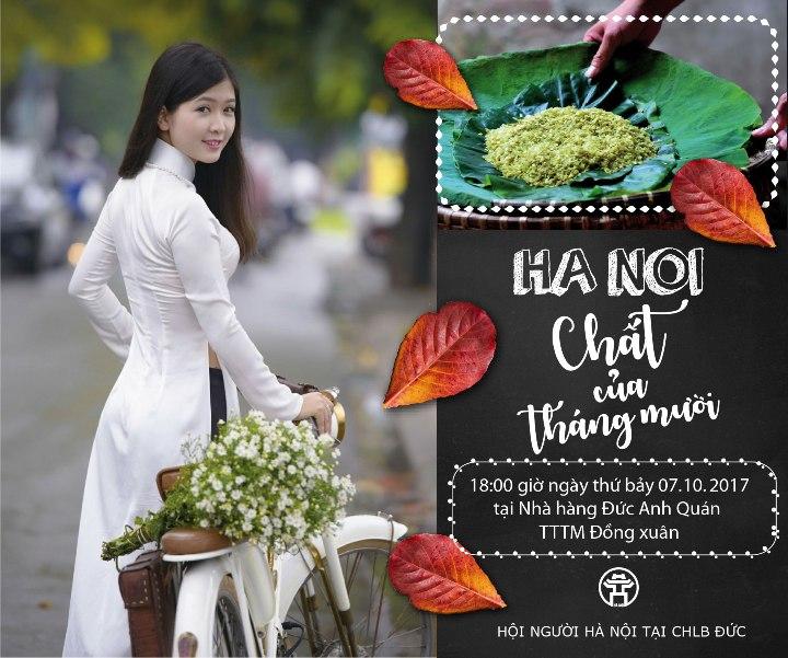 """Hội Người Hà Nội mời dự giao lưu """"Hà Nội - Chất của Tháng Mười"""" (07.10.2017)."""