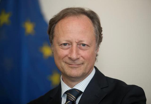 Đại sứ Bruno Angelet, Trưởng Phái đoàn Liên minh châu Âu tại Việt Nam. Nguồn: Dân trí