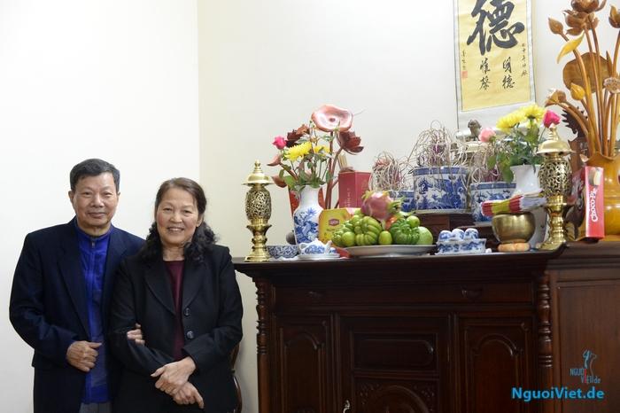 Vợ chồng nhà văn Nguyễn Khôi. Nguồn: Phạm Cao Phong