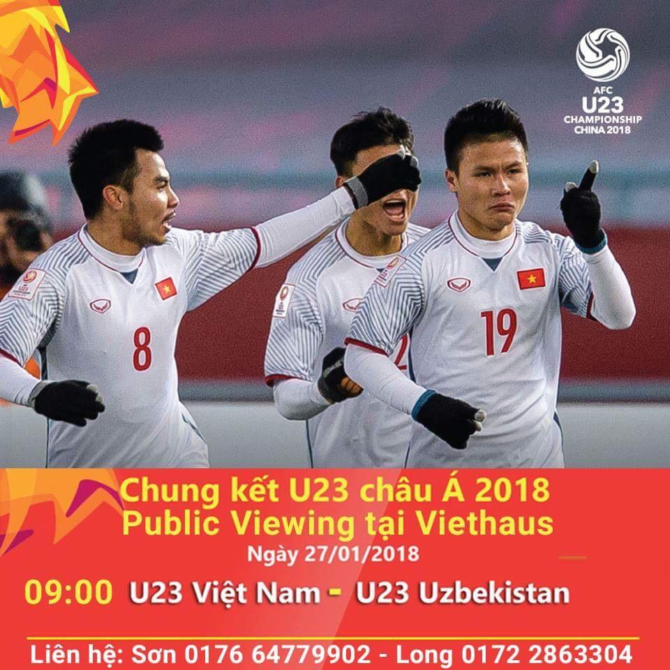 Xem tường thuật trực tiếp tại Berlin ủng hộ U23 Việt Nam Đá Chung Kết U23 Châu Á (27.01.2018)