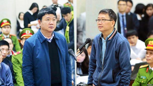 Tòa án Nhân dân Thành phố Hà Nội mở phiên tòa xét xử nguyên Ủy viên bộ chính trị Đinh La Thăng, cùng nguyên Phó Chủ tịch UBND tỉnh Hậu Giang Trịnh Xuân và 22 đồng phạm