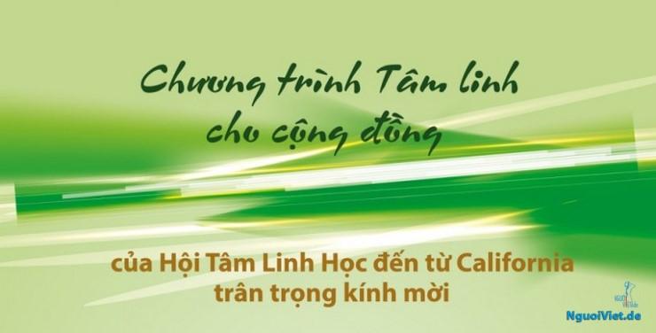 Thư mời tham gia Chương trình Tâm linh của Hội Tâm Linh học đến từ California (01. - 03.05.2018)