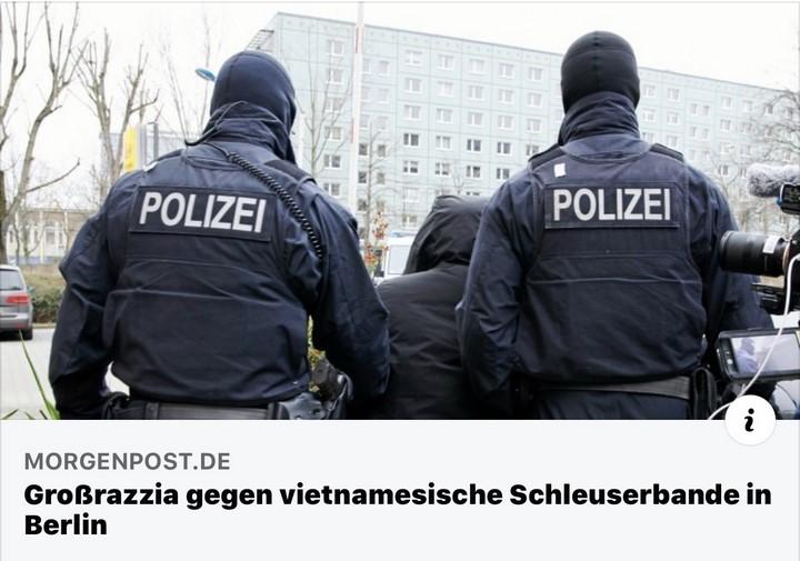 Cảnh sât Đức triệt phá đường dây đưa lậu người Việt Nam. Nguồn: Morgenpost.de