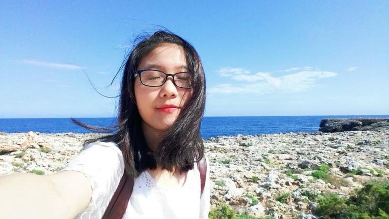 Nữ sinh Trần Thị Thu Hà - Ảnh trên Facebook nhân vật