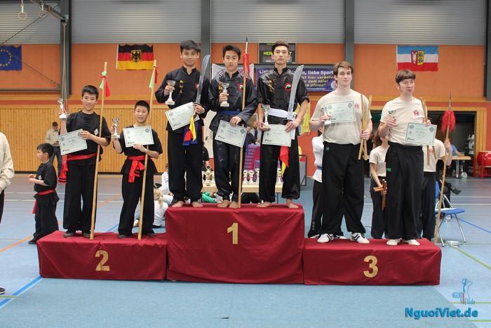 CLB võ thuật Nam Hồng Sơn Berlin tham dự giải võ thuật tranh cup Wan Fu mở rộng