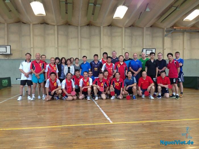 CLB bóng bàn Việtnam - Berlin giao lưu với CLB Blauer Anker