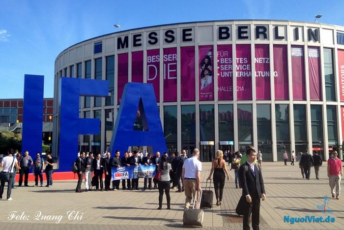 Quang cảnh cửa vào phía Nam của Hội chợ IFA Berlin 2016. Ảnh: Quang Chí