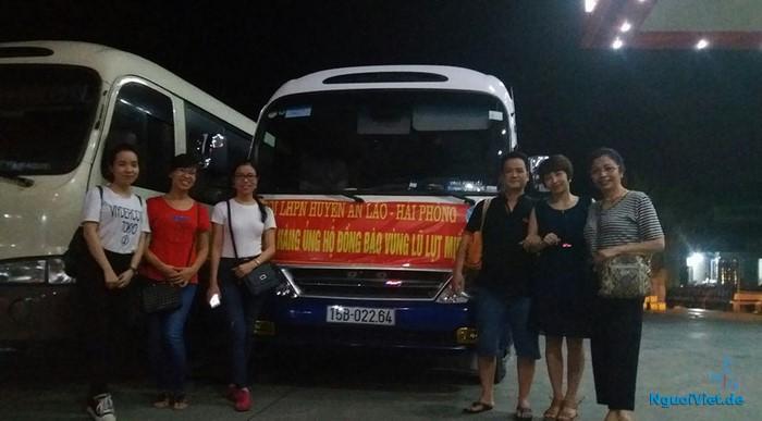 Chuẩn bị xuất phát từ An Lão, Hải Phòng đi Quảng Bình chiều tối nay 28.10.2016