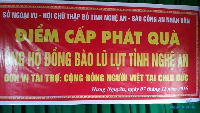 Danh sách trao quà tại các xã  Hưng Lĩnh và Hưng Long, huyện Hưng Nguyên, Nghệ An