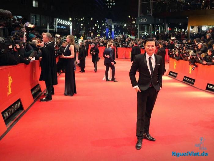 Nhà sản xuất phim Nguyễn Hà Lê trên thảm đỏ của Liên hoan Phim Berlin 2017. Nguồn: Le Nguyen